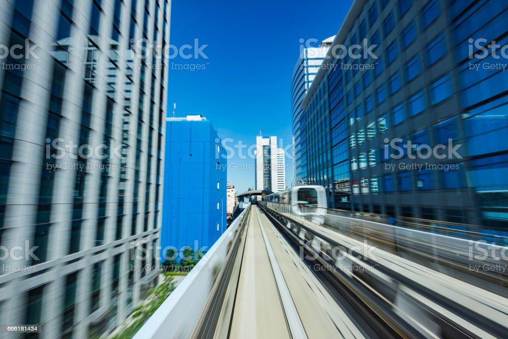 Tokyo Commuter Train stock photo