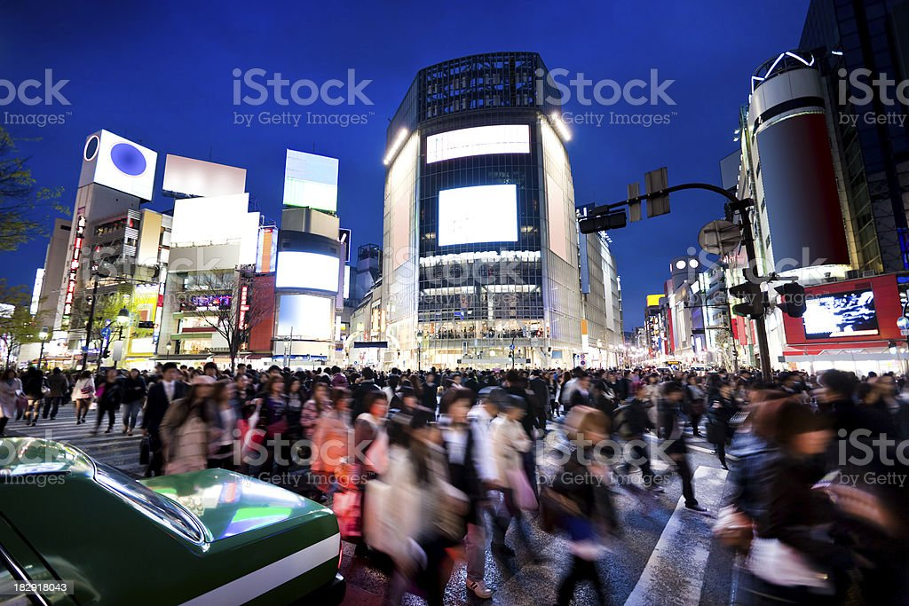 Tokyo commuters stock photo