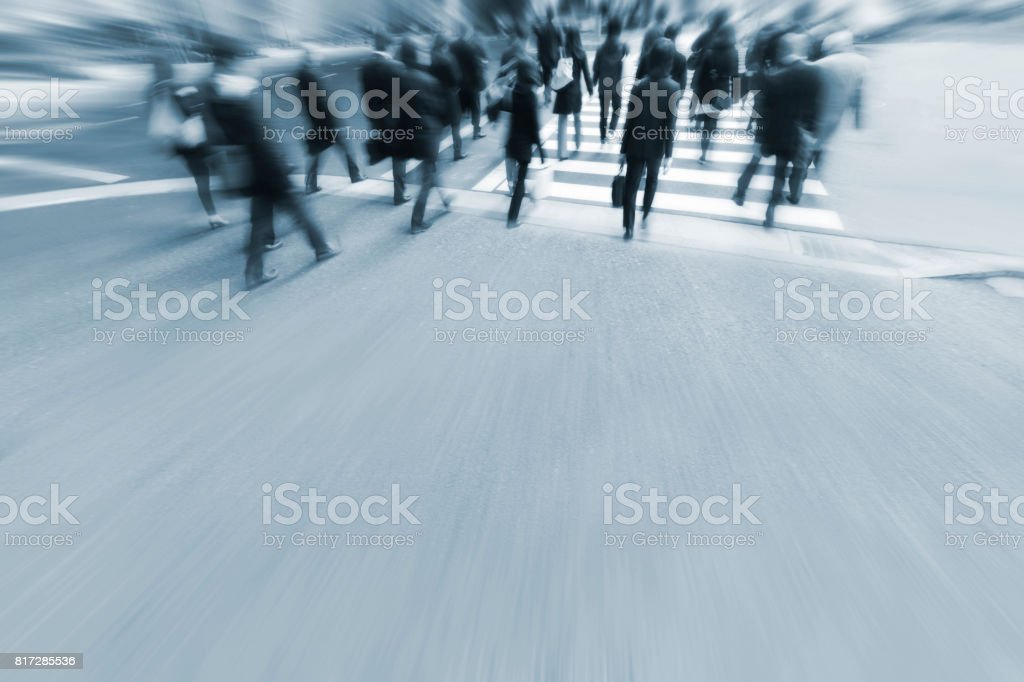 Tokyo Crosswalk Scene stock photo