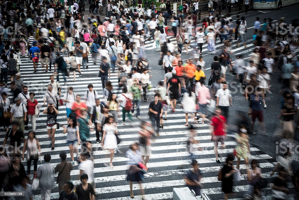 Tokyo crowd stock photo