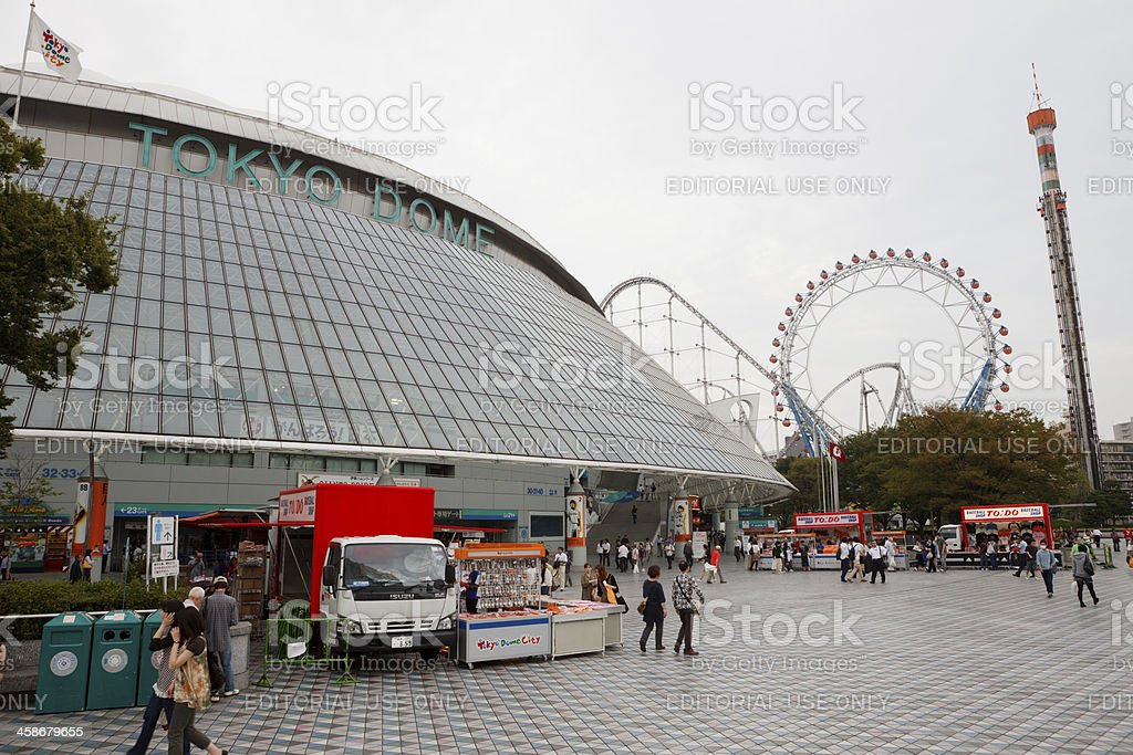 Tokyo Dome in Japan royalty-free stock photo