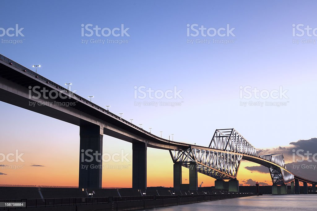 Tokyo gate bridge royalty-free stock photo
