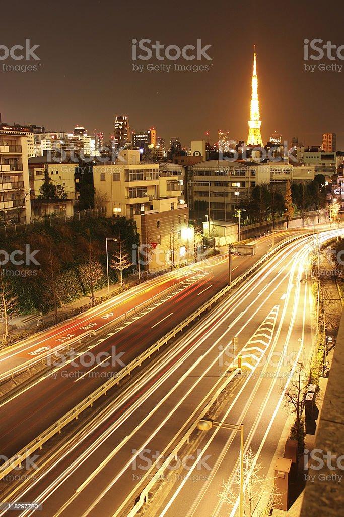 Tokyo highway royalty-free stock photo