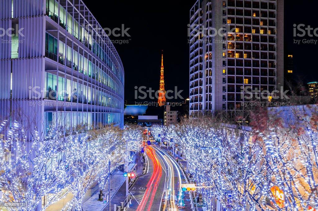 Tokyo Illuminations stock photo