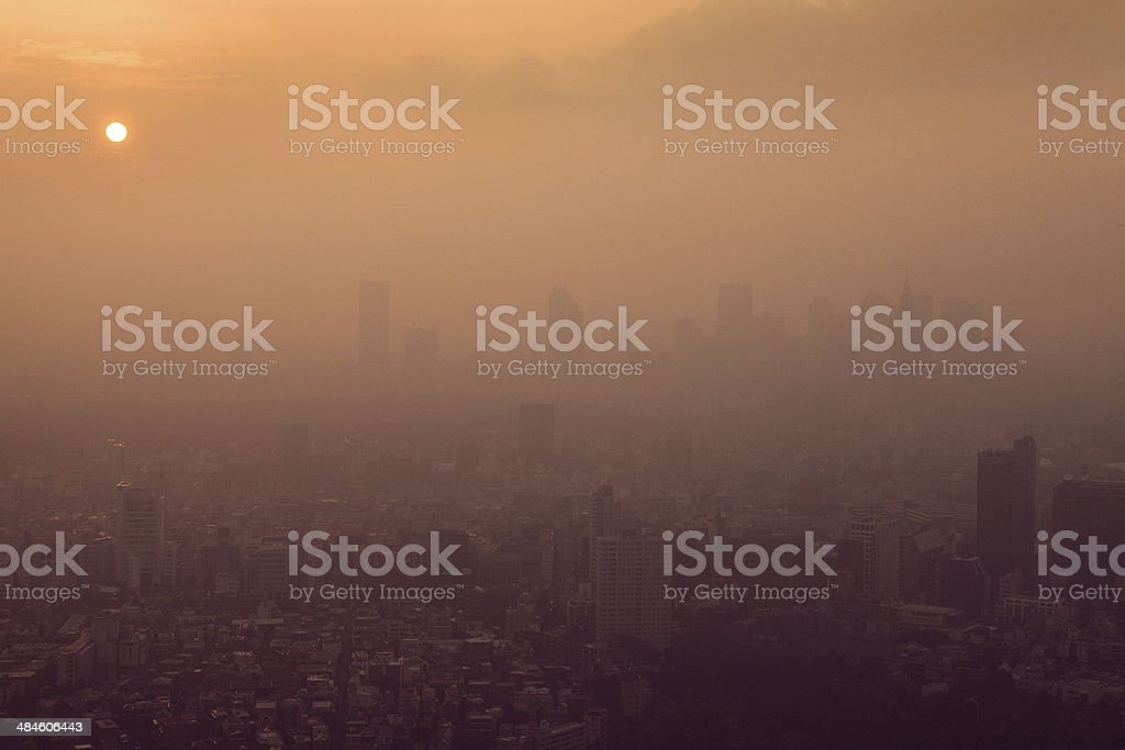 Tokyo in the sunset stock photo