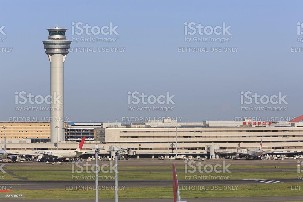 Tokyo International Airport in Japan royalty-free stock photo