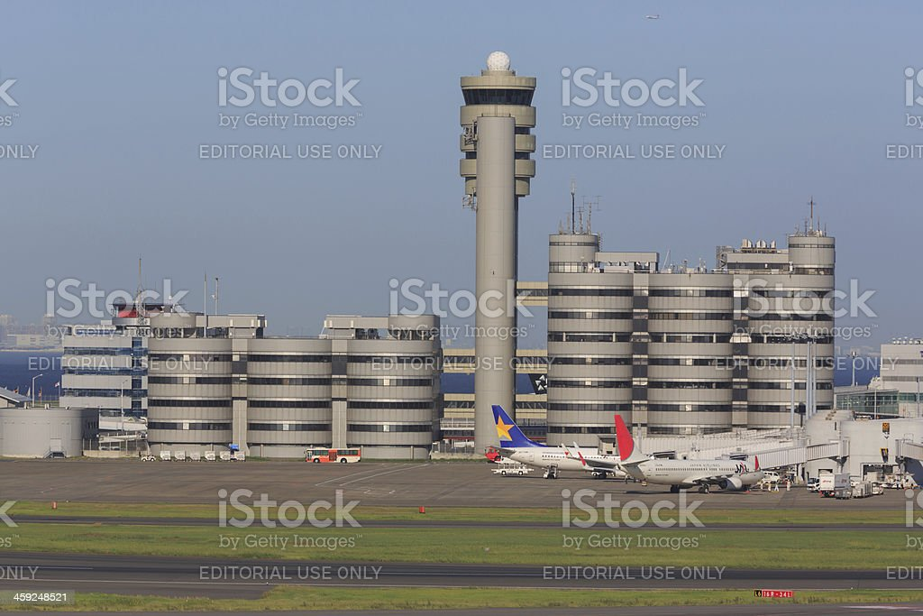 Tokyo International Airport in Japan royalty-free stock photo