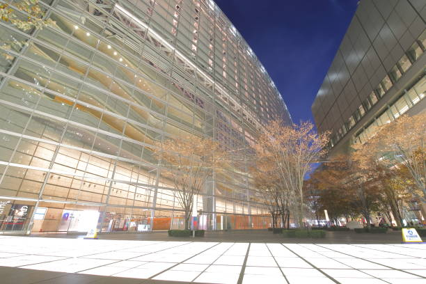 tokyo international forum modern architecture building japan - conferences stock photos and pictures