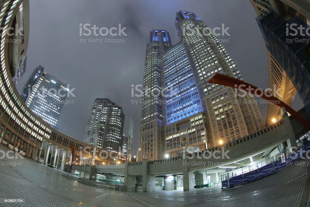 東京,日本城市景觀之間政府大樓圖像檔