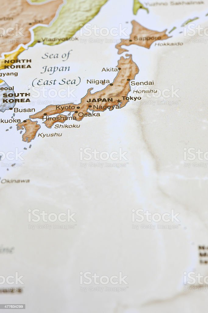 Tokyo Japan Map royalty-free stock photo