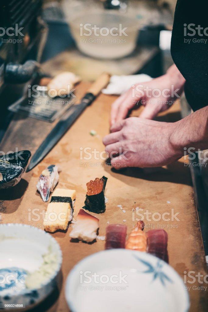 Tokyo Japan Sushi-Koch – Foto