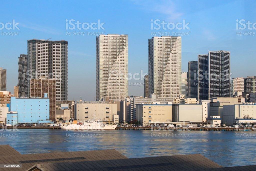 Tokyo Kachidoki and Toyomicho stock photo