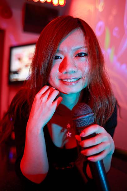 Tokyo Karaoke Girl stock photo