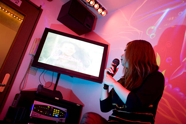 Tokyo Karaoke Girl (horizontal) stock photo