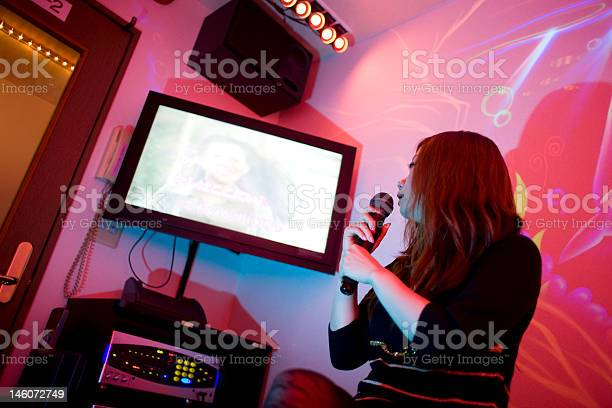 Tokyo Karaoke Girl Stock Photo - Download Image Now
