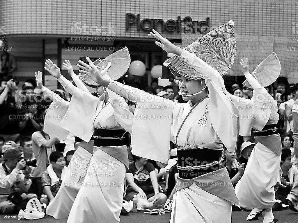 Tokyo Koenji Awa-Odori Dance Festival (2011) stock photo