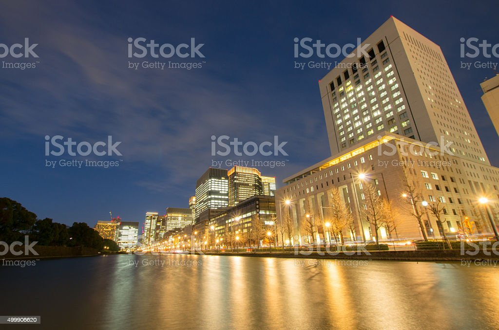 Tokyo landscape night view,tokyo(prefectures),tourism of japan stock photo