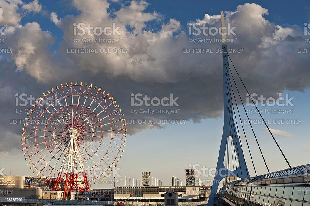 Tokyo Mega Web ferris wheel Pallet Town Odaiba Japan royalty-free stock photo