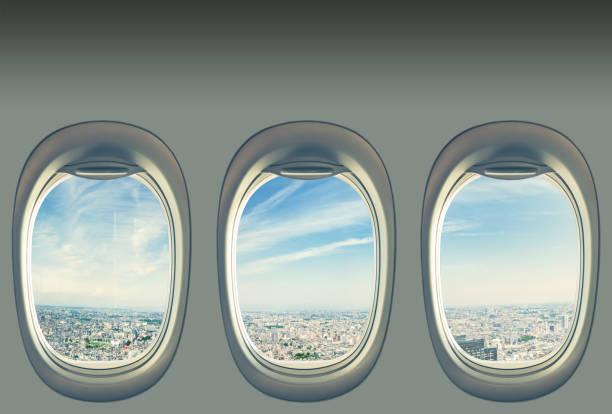 Tokyo Megapolis von Flugzeug Fenster gesehen – Foto