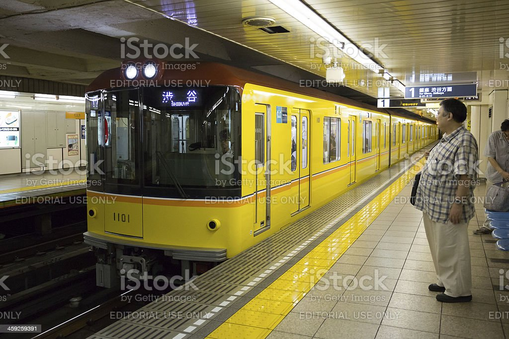 Tokyo Metro new 1000 series train in Japan royalty-free stock photo