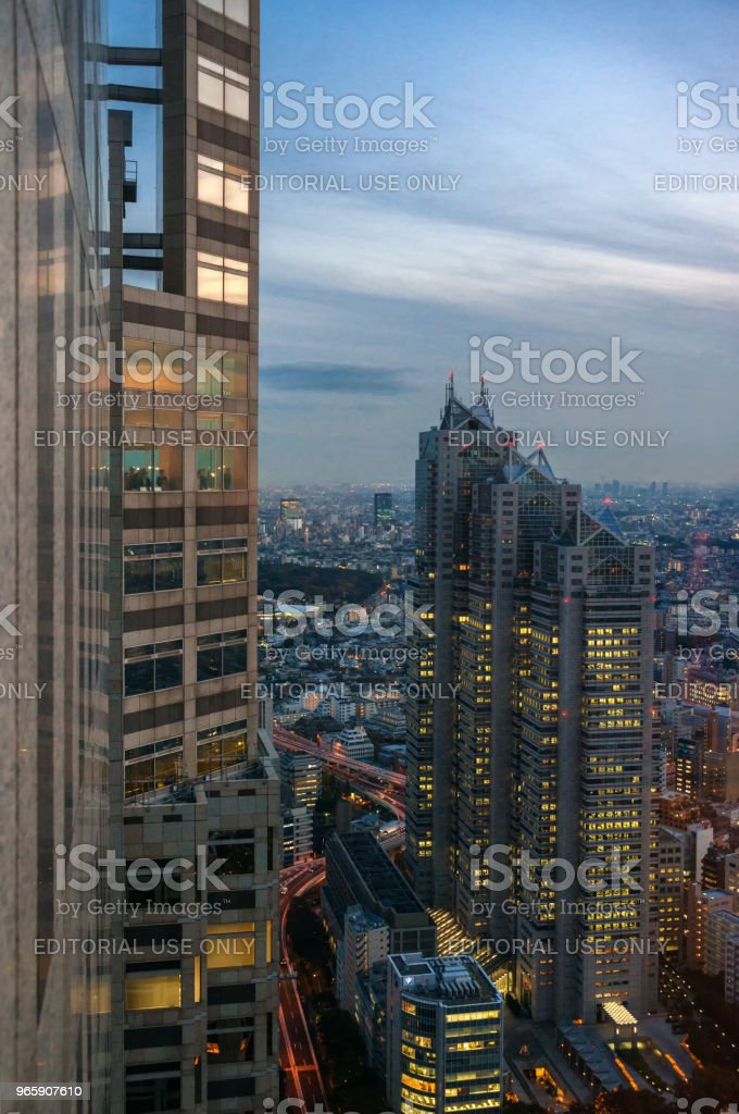 Tokyo Metropolitan Building observatory - Royalty-free Architecture Stock Photo
