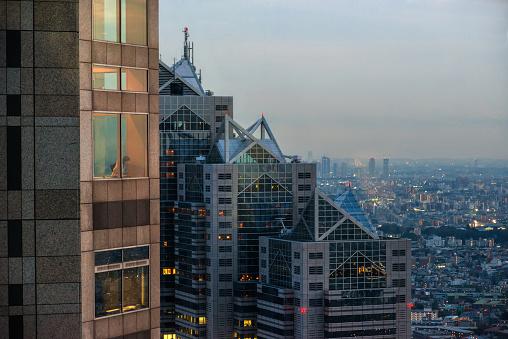 Tokyo Metropolitan Gebouw Observatorium Stockfoto en meer beelden van Architectuur