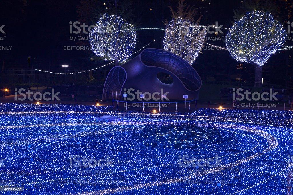 Tokyo Midtown Christmas Illumination in Japan stock photo