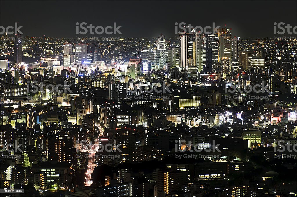 Tokyo Night royalty-free stock photo