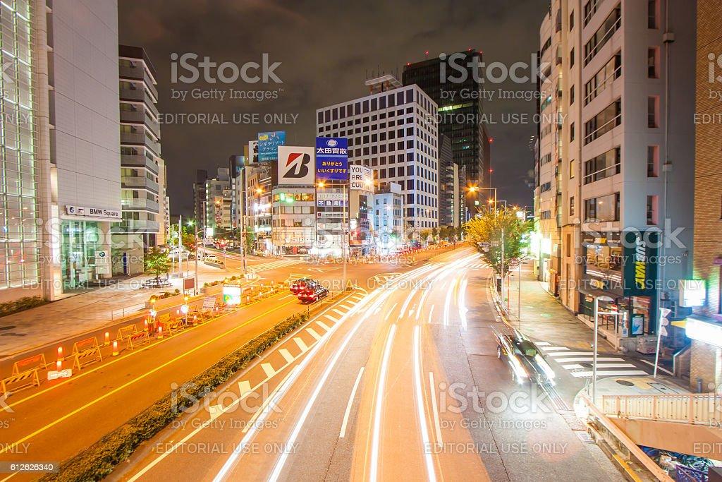Tokyo night road ストックフォト