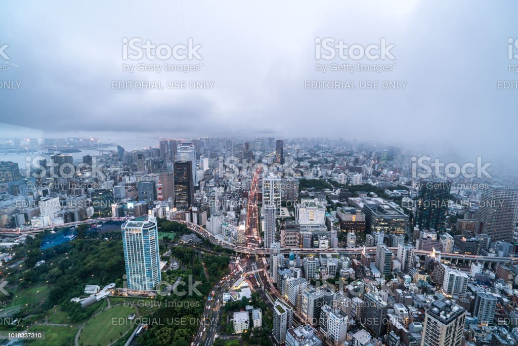 Tokyo night view from Tokyo tower. Tokyo Tower is the world\'s...