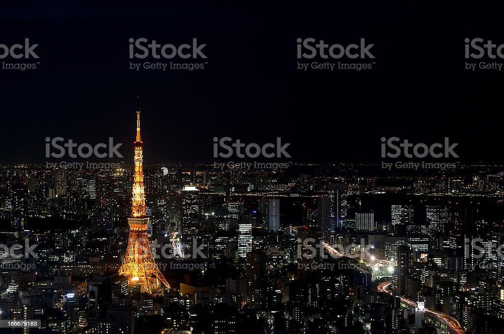 Tokyo night view stock photo