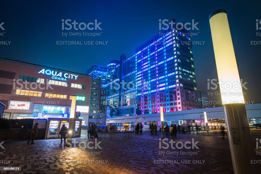 Tokyo Odaiba Entertainment District Aqua City Fuji Tv Building Japan