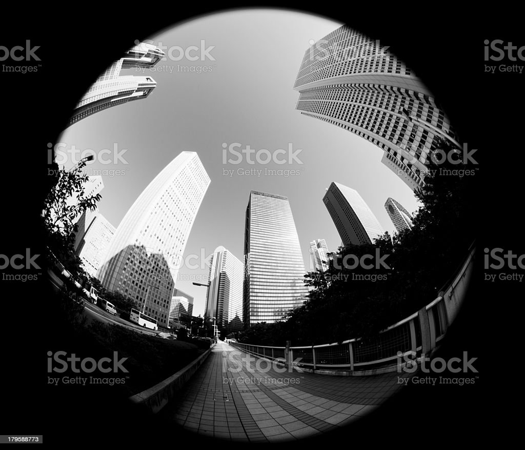 Tokyo Office Buildings royalty-free stock photo