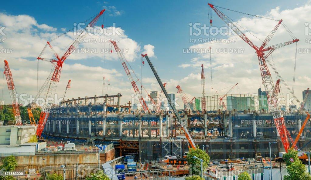 Tokyo Olympic Stadium stock photo