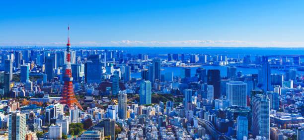 Tokyo panorama view in Japan stock photo