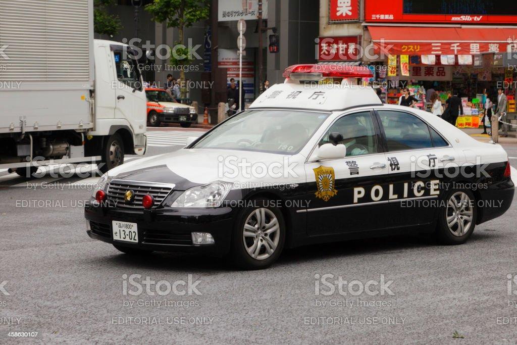 Tokyo Police Car stock photo