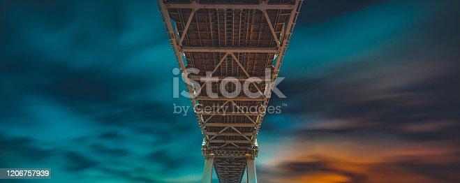 Steel highway bridge