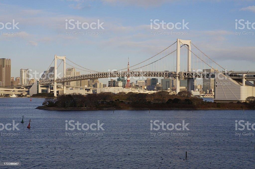 Tokyo Rainbow Bridge royalty-free stock photo