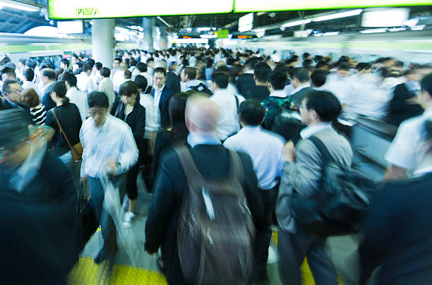 東京のラッシュアワー - 通勤 ストックフォトと画像