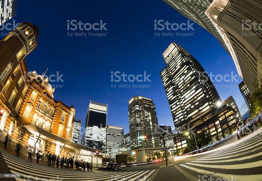 Tokyo Scenery at Dusk royalty-free stock photo