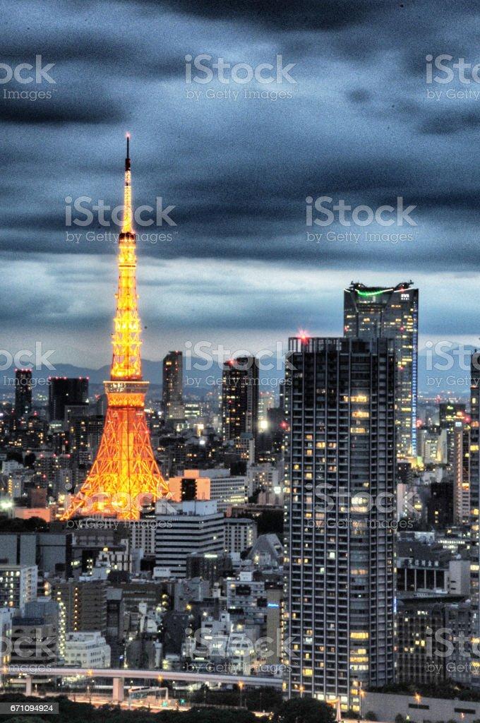 Tokyo scenic night stock photo