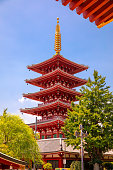 Tokyo, Japan - August 8, 2019: Oldest temple in Tokyo and it is one of the most significant Buddhist temples located in Asakusa area.