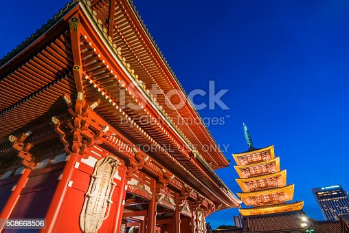 464620985 istock photo Tokyo - Senso-ji Temple Pagoda Asakusa Japan 508668506