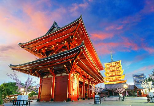 Tokyo - Senso-ji Temple Pagoda Asakusa Japan