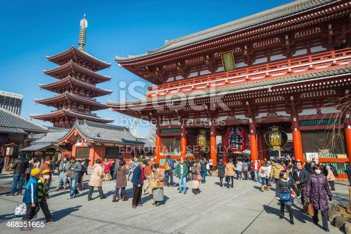 464620985 istock photo Tokyo Senso-ji temple pagoda tourist crowds Akasuka Japan 468351665
