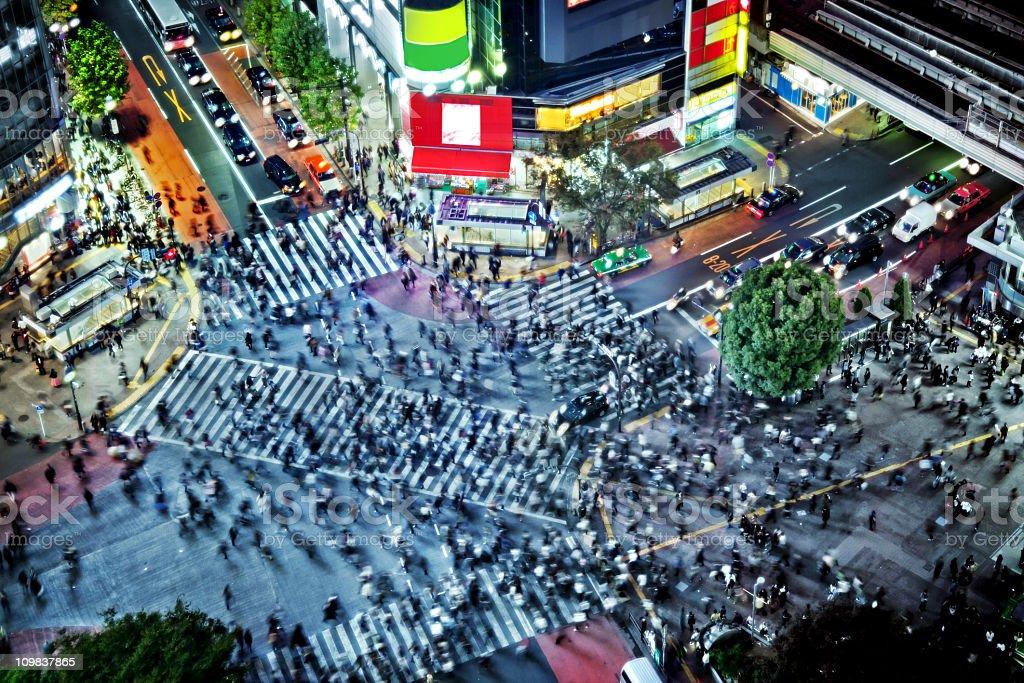 Tokyo Shibuya Crossing royalty-free stock photo