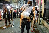 東京渋谷ハロウィン看護師コスチュームパルティエ