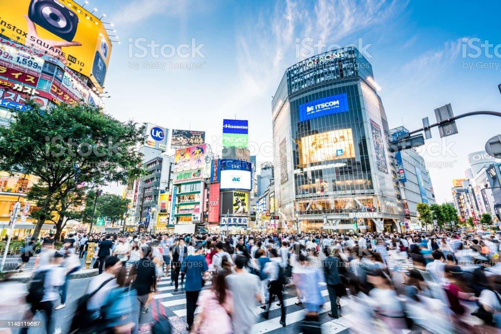 東京渋谷ライフ - アクションショットのロイヤリティフリーストックフォト