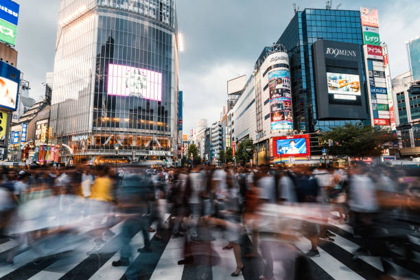 Tokyo Shibuya Night Life stock photo