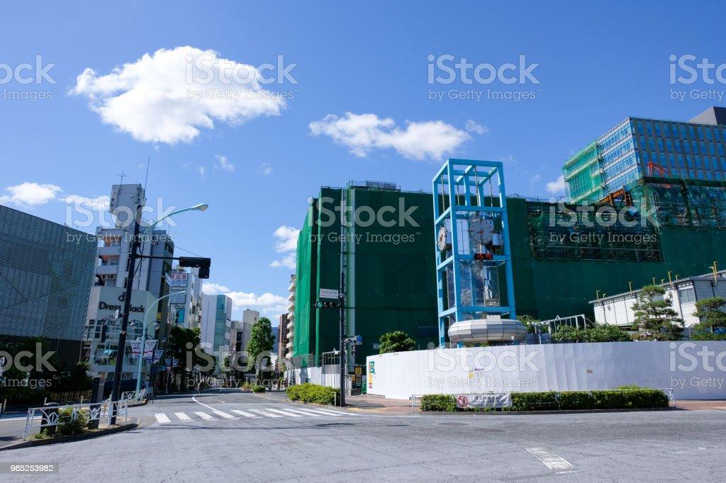 Tokyo Shibuya Redevelopment zbiór zdjęć royalty-free